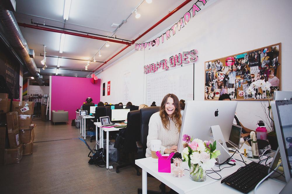 Olga Vidisheva in the Shoptiques Office