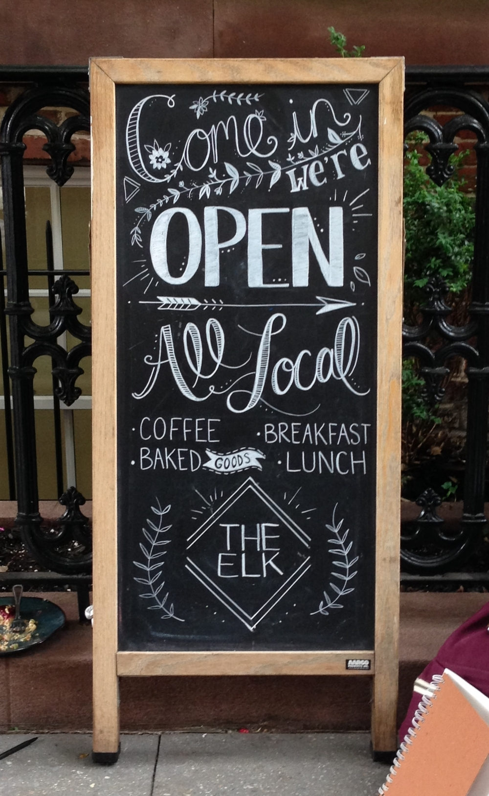 Chalk Sidewalk Sign Illustration