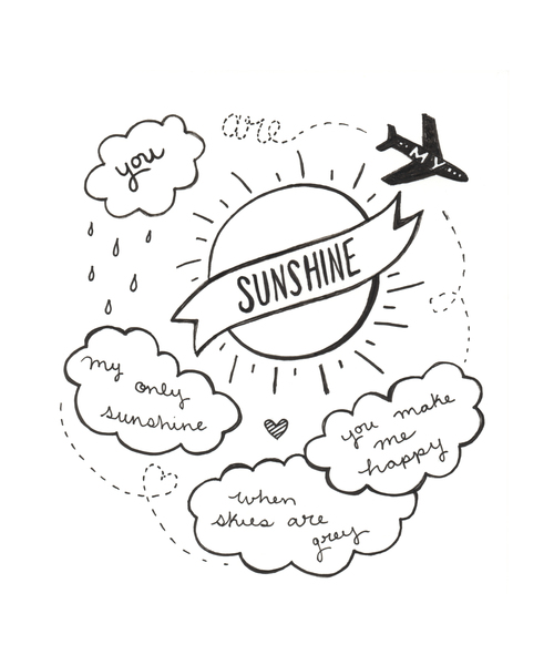 Bridget Badore You Are My Sunshine Card Or Postcard Shop Prints