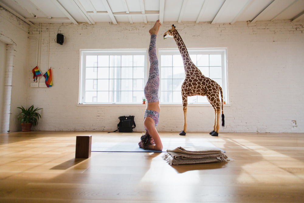 Briana Feigon at Sky Ting Yoga