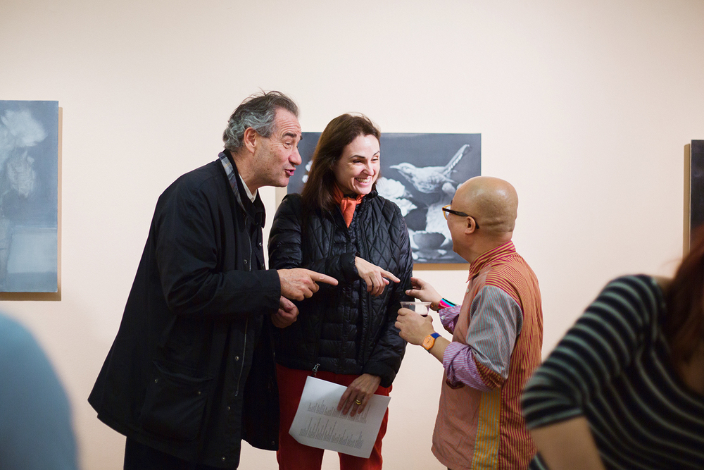 "Phong Bui at the Opening for ""Unreasonable Sized Paintings"""