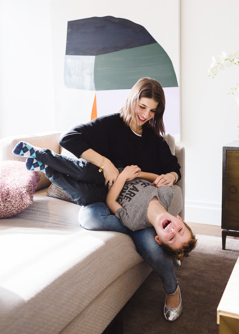 Rachel Blumenthal with Son, Griffin