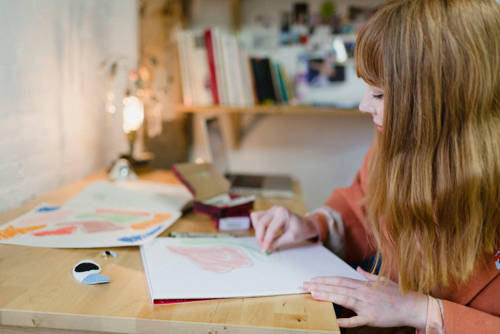 Hannah Kristina Metz in her Studio