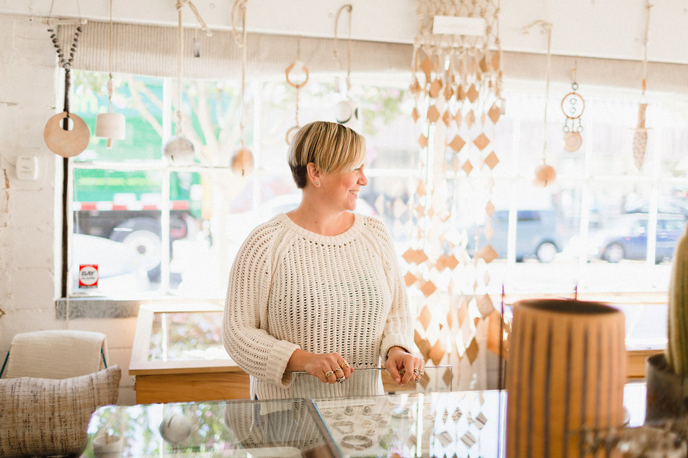 Lauren Wolf, Owner and Designer of Esqueleto Jewelry Shop