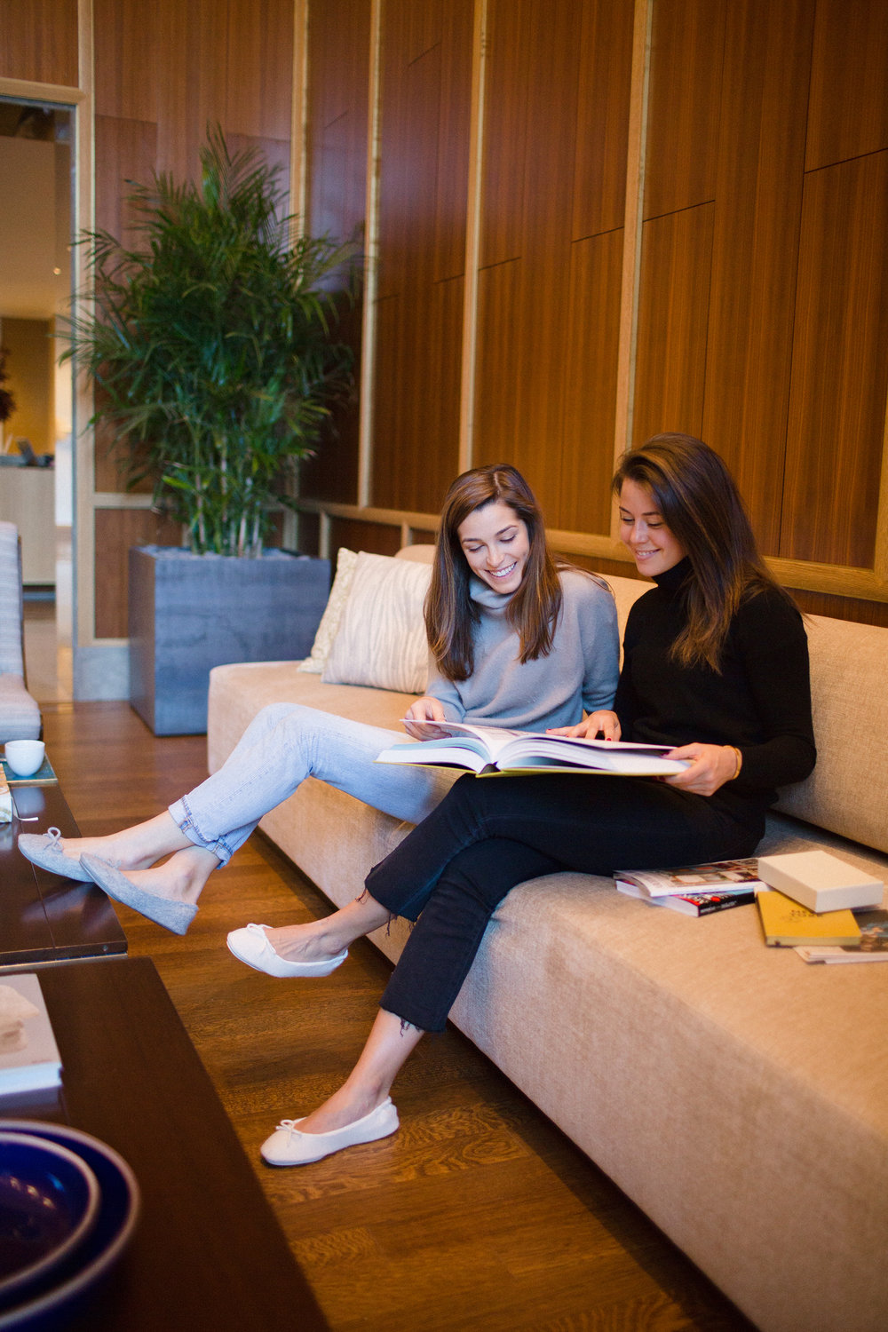 Alexa and Sarah of Margaux in the Cashmere Slipper