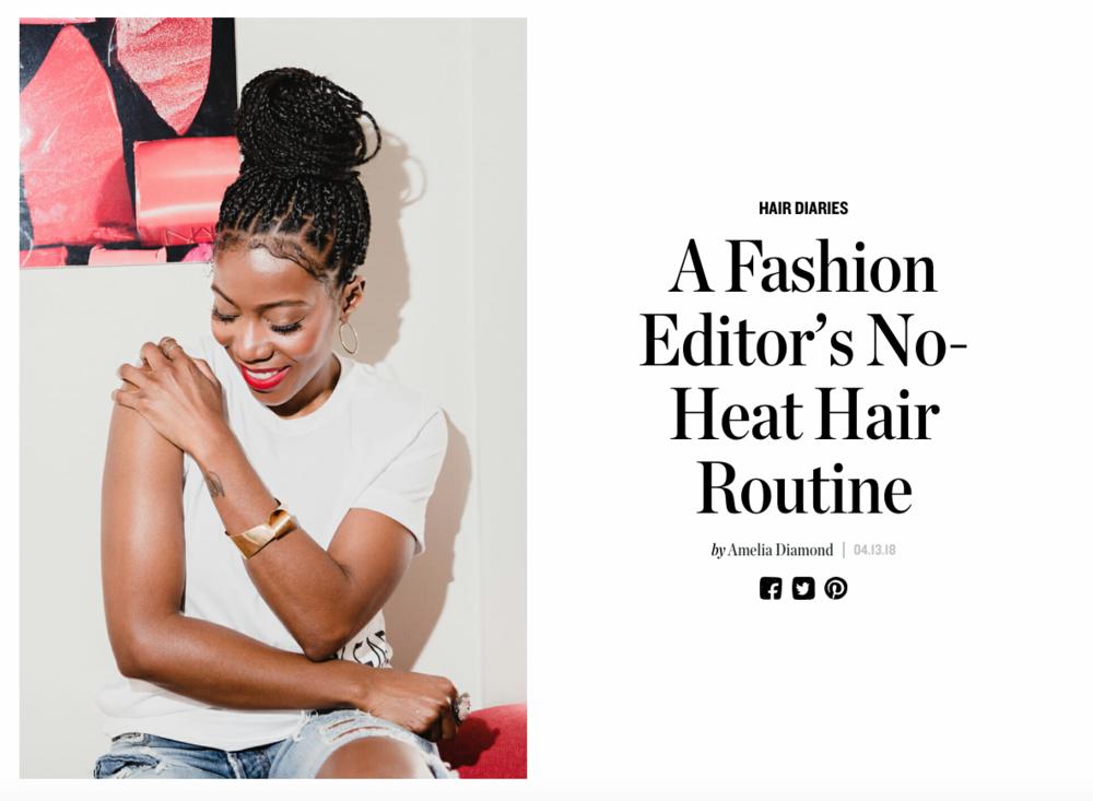 A Fashion Editor's No-Heat Hair Routine