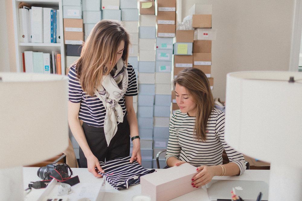 """Alexa & Sarah in their """"Gaux Girl"""" Shirts"""