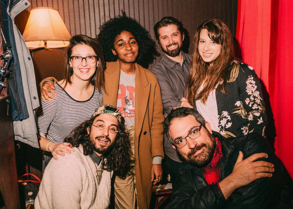 Natasha Vaynblat, Ayo Edebiri, Matt Strickland, Ariel Elias, Ben Wasserman, and Matt Koff