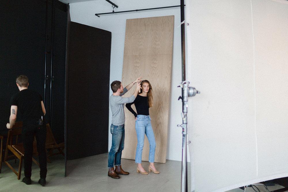 Photographer Alexandra Nataf, stylist Lindsey Frugier, make-up artist Laura Stiassni, and model Mia Speicher