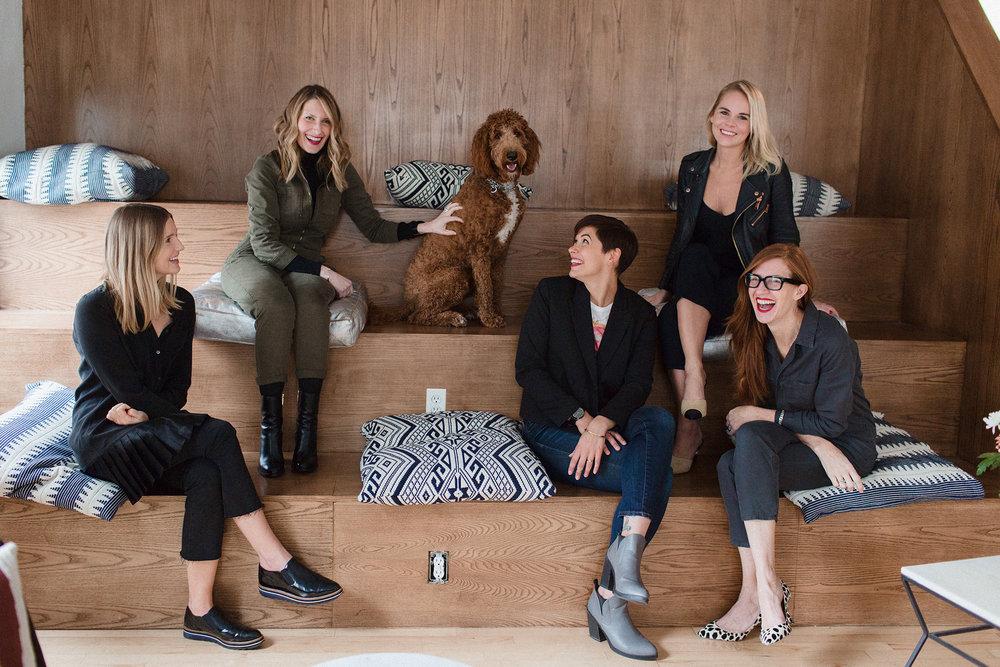 Olivia Froislie, Melissa Liebling-Goldberg, Becca Enman, Suzie Tompkins, and April Uchitel