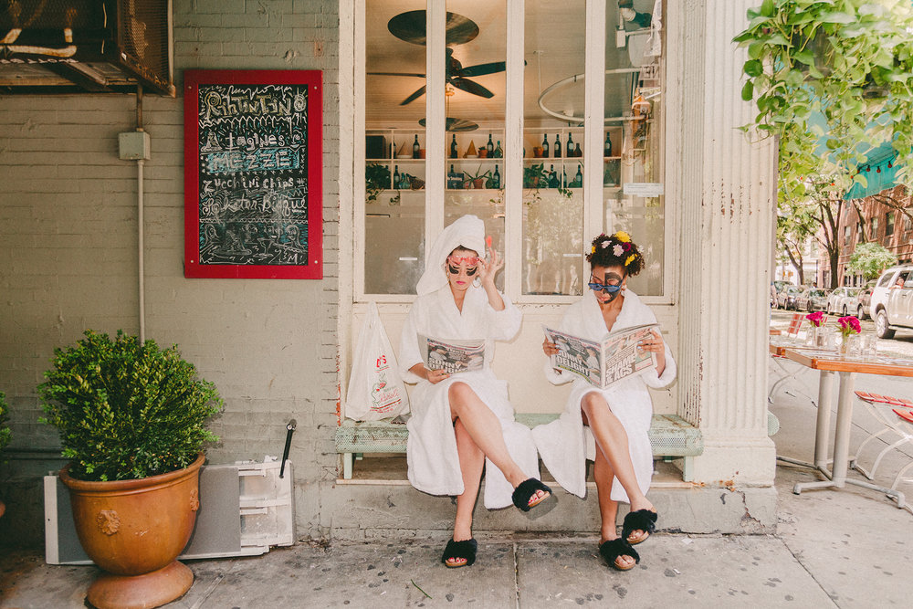 Sara Sylvester & Eryn Ammons in Elemis Face Masks