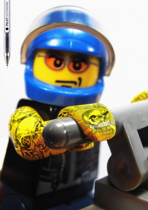 Pilot showcases its extrafine property with Lego tattoos