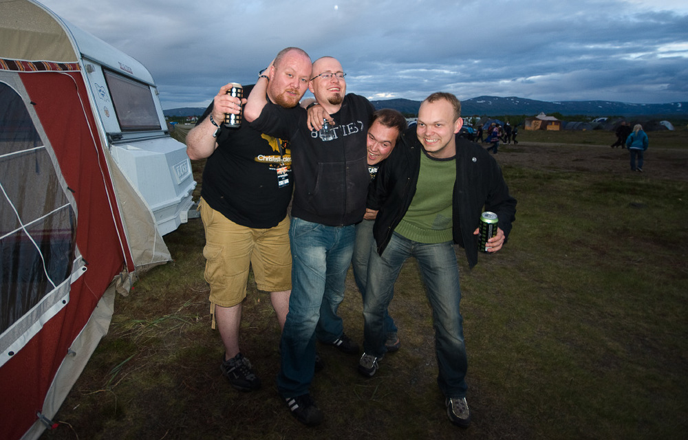 Campen at Midnattsrocken 2008