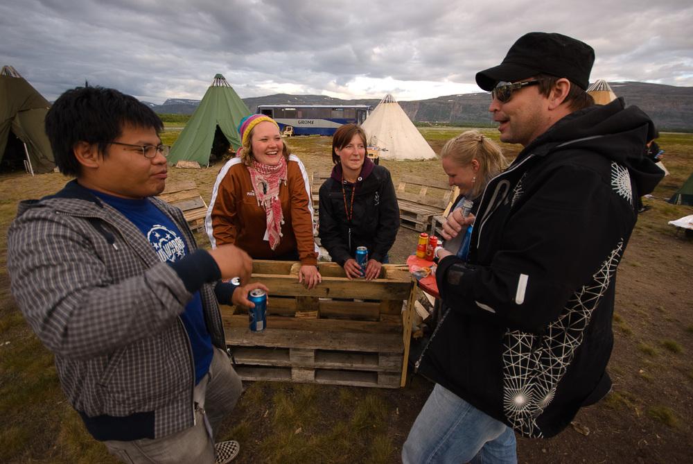 Campen at Midnattsrocken 2008