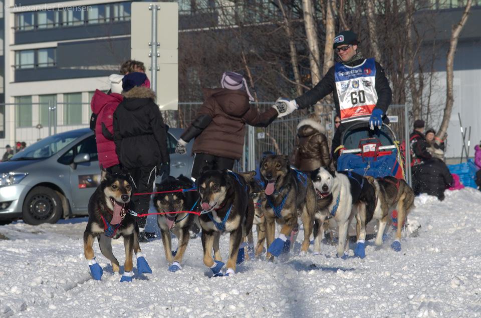 Kenneth Gjemmestad starting Finnmarksløpet 2012 - 500 km