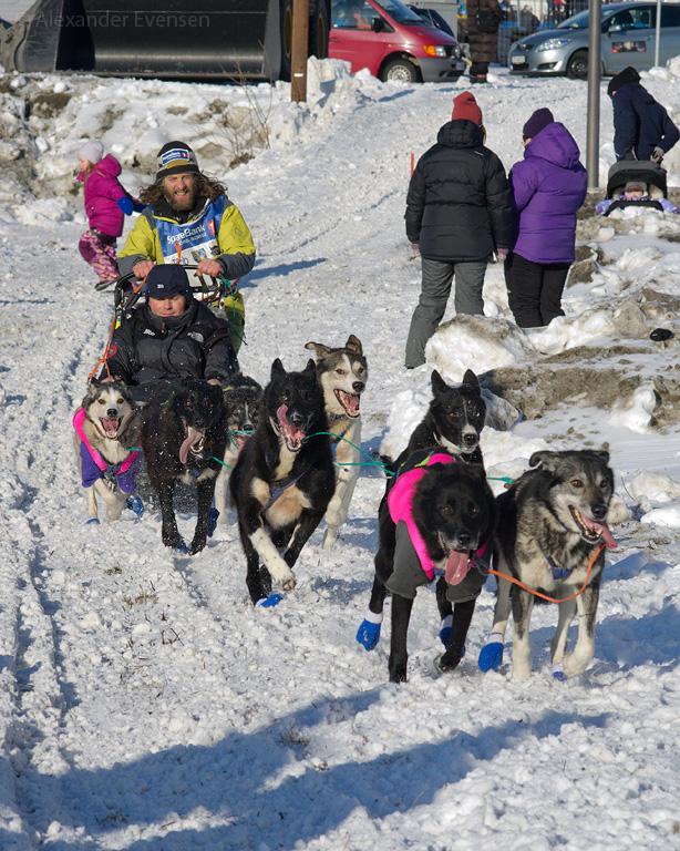 Per Weddergjerde starting Finnmarksløpet 2012 - 1000 km