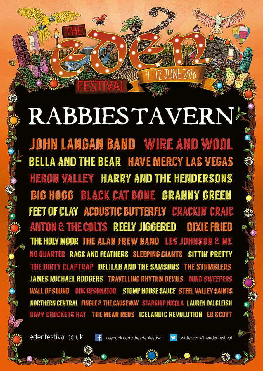 All the acts at Rabbies Tavern