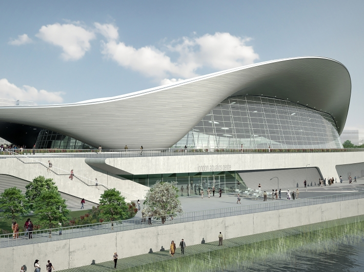 London Aquatics Centre - Visualization of the the building in legacy mode - Zaha Hadid Architects