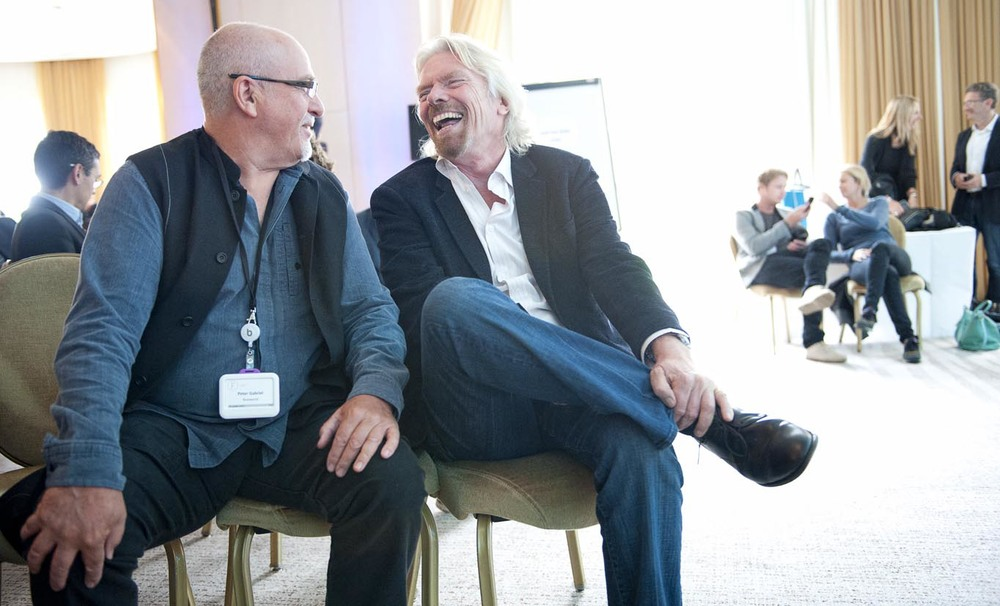 Peter Gabriel and Sir Richard Branson