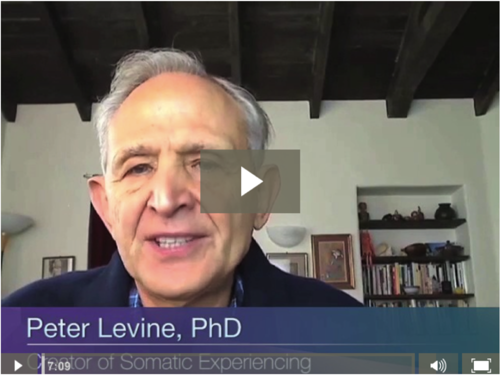 self soothing technique from Peter Levine, PhD