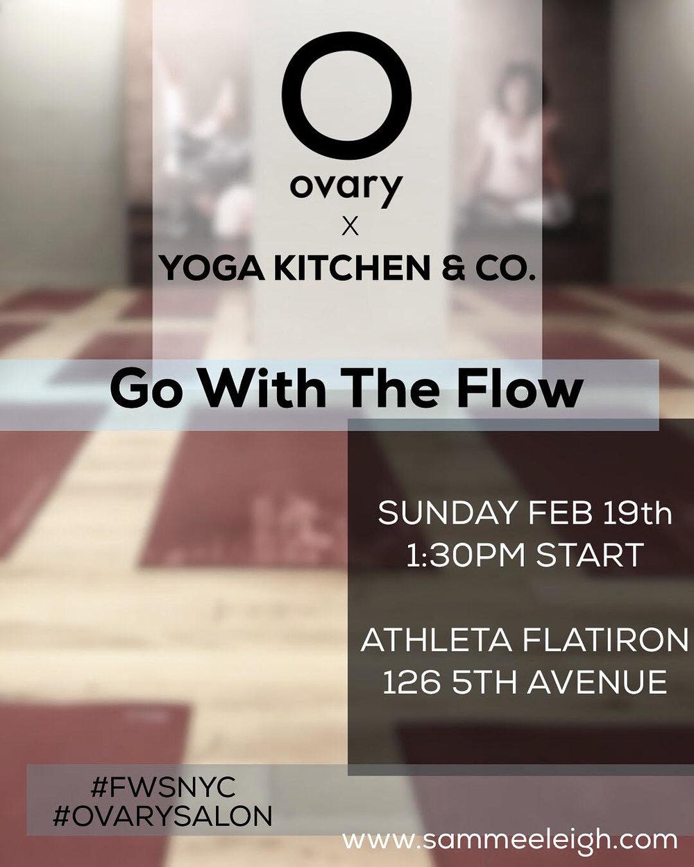 Yoga Kitchen event February 19th @ Athleta