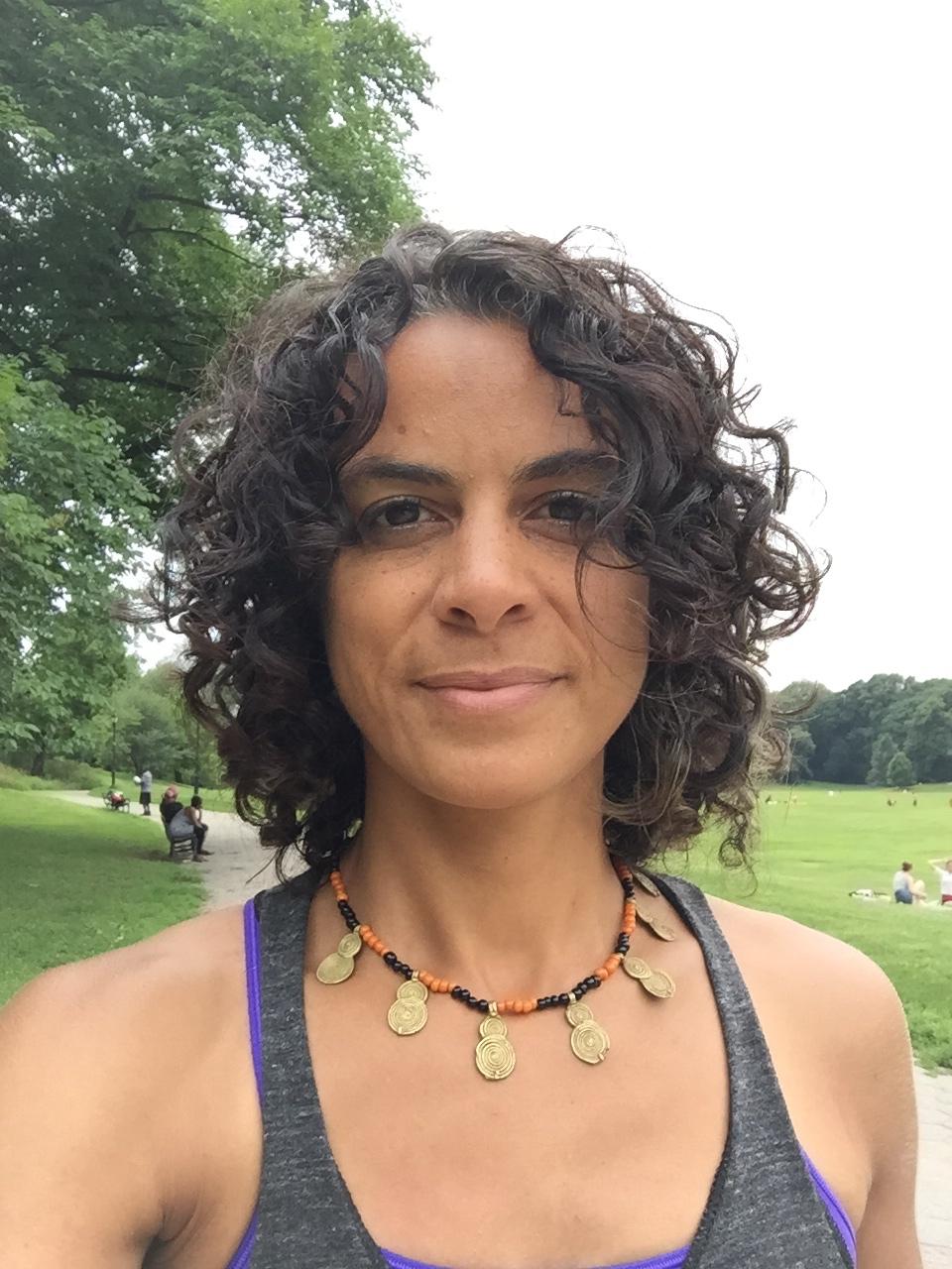 Shawna teaches trauma-informed yoga for Exhale to Inhale