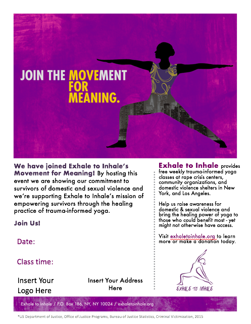 Partner Flyer - Movement for Meaning