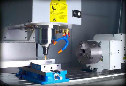 8-inch 4th axis, providing true simultaneous 4 axis feeding