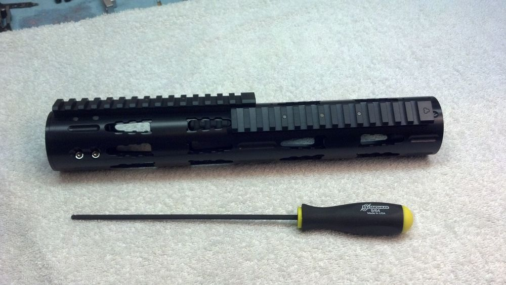 Full-Length RRAC Tactical Handguard with Extended RRAC Rails, attached from front