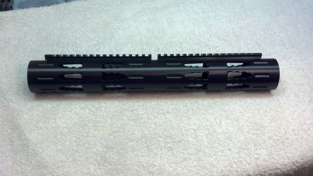 Extended-Length RRAC Tactical Handguard with Extended RRAC Rails, attached from opposite ends