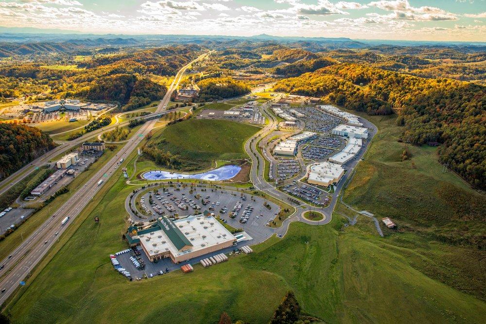 Shopping Center Development Drone image.