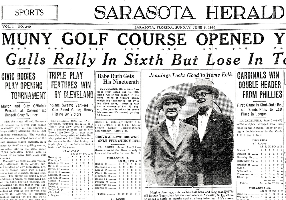 Sarasota Herald, June 6, 1926. Image Courtesy of Sarasota County Historical Resources.