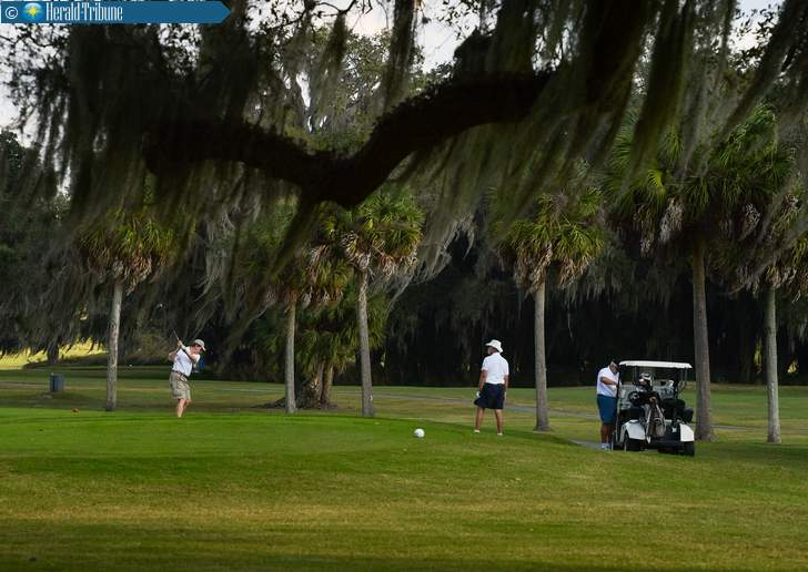 Golfers play on the American course at Bobby Jones Golf Complex on Monday. Photographer: Dan Wagner Photograph courtesy of Sarasota Herald-Tribune