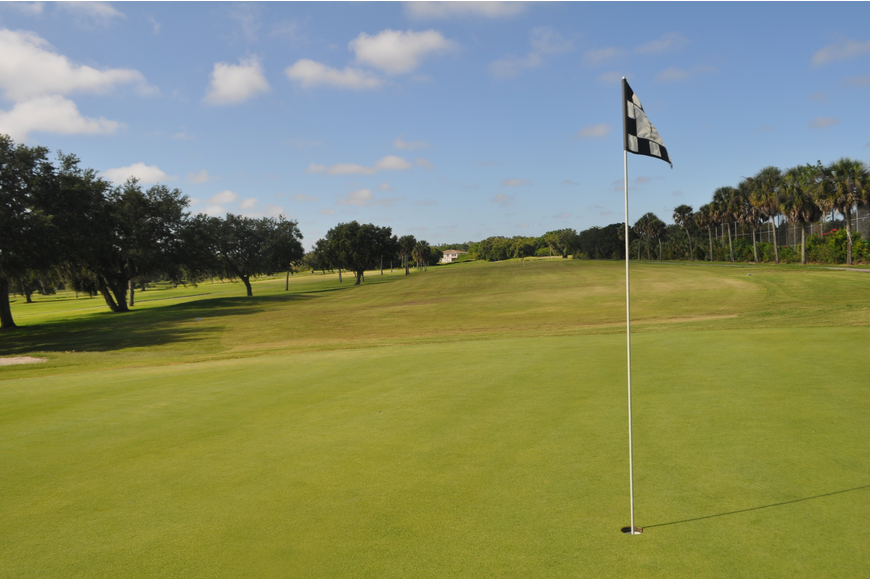 The City has budgeted $300,000 to replace the American Course greens at Bobby Jones Golf Club, dipping into funds reserved for replacing the facility's aging clubhouse. Photograph Courtesy of the Sarasota Observer YourObserver.com