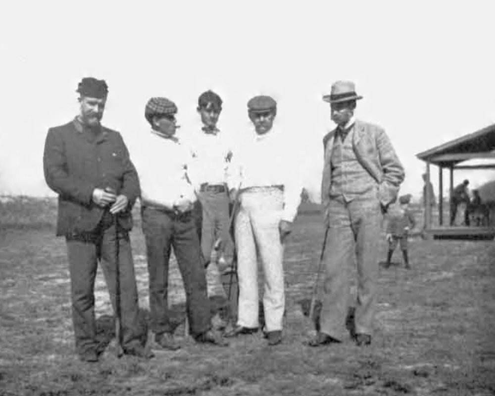 Kissimmee Golf Club Captain and course designer  John Hamilton Gillespie  of Edinburgh, St Andrews, and Sarasota; 1899 United States Open Champion  Willie Smith  of Dundee and Carnoustie, Scotland; Belleview Country Club's first golf professional  Launcelot Cressy Servos , author of  Practical Instructions in Golf  (1905); Tampa Bay Golf Association Captain  A. E. Dick ; Musselburgh, Scotland golf professional, West Florida Golf Association manager and prolific course designer  Tom Dunn . Tampa Golf Club, 1900.