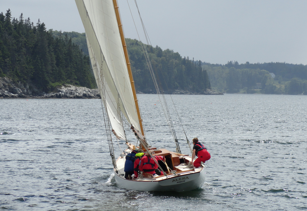 Alera,  lead boat of the NYYC 30 foot-class, Castine, ME.