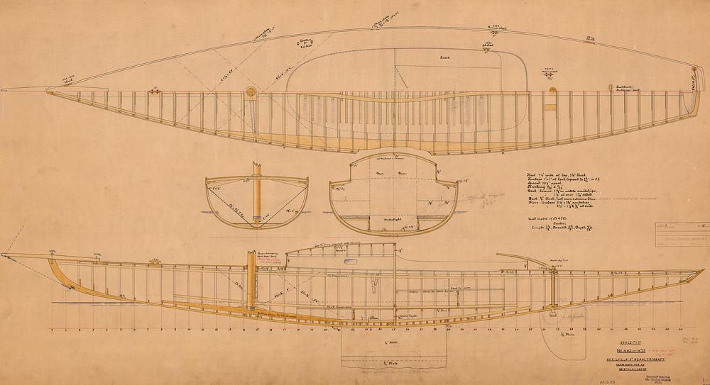 HMCo # 463, lead of Newport 30, Asahi, 1895.
