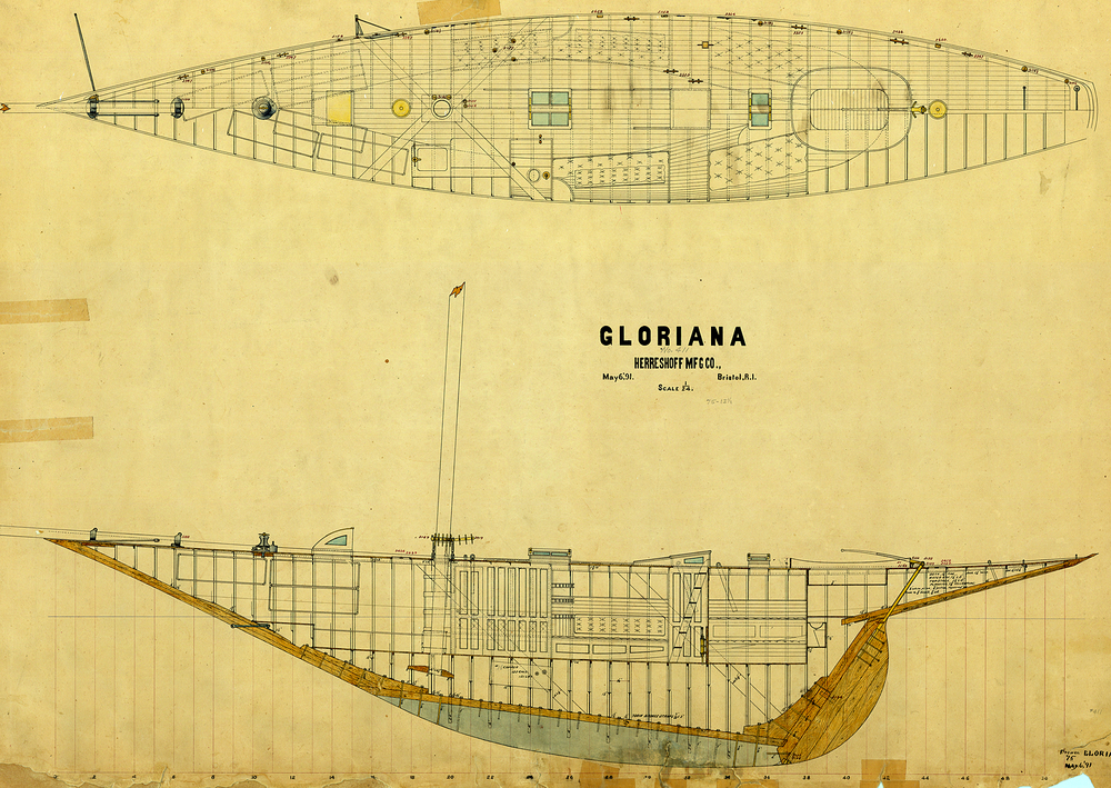 Capt. Nat's breakthrough 46-foot class yacht of 1891.