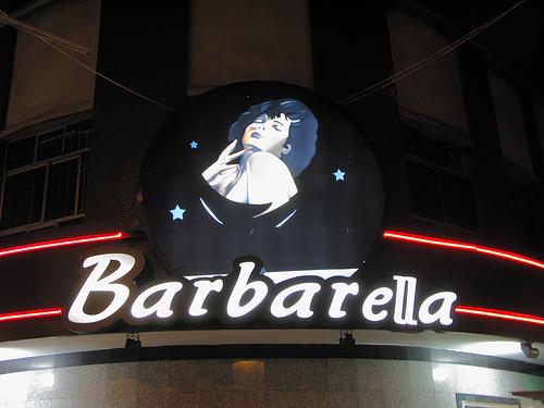 Letreiro da Boate Barbarella, na Avenida Prado Júnior
