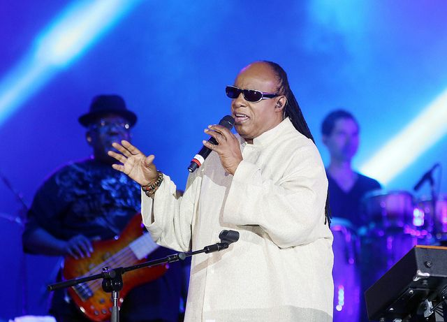 Stevie Wonder em show em Copacabana