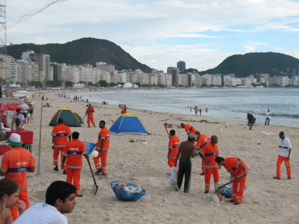 Garis na Praia de Copacabana