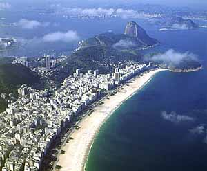 Praia de Copacabana vista do alto