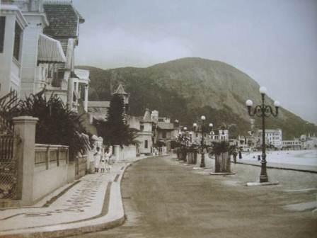 Esquina da Rua Francisco Sá com Avenida Atlântica final dos anos 1910