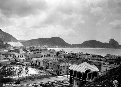 Vista de Copacabana e Leme a partir da Rua Francisco Otaviano