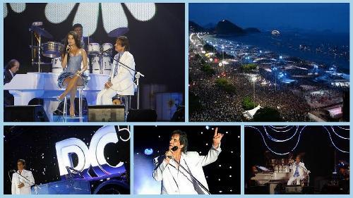 Roberto Carlos RC 50 ao vivo na praia de Copacabana