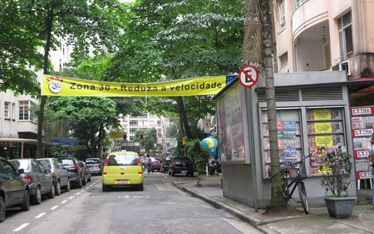 Lista da Ruas de Copacabana com velocidade máxima de 30 Km/h com a Rua Duvivier