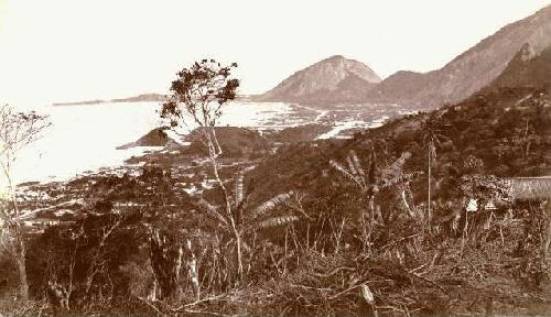 Vista de Copacabana do alto do Forte do Leme