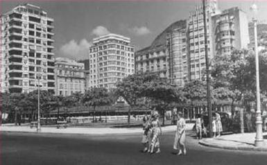 Praça do Lido anos 1950