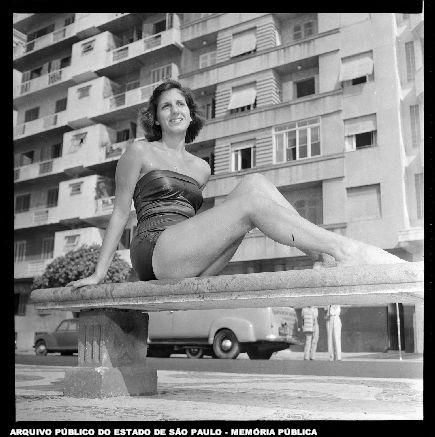 Garota do Banco de 08/02/1952 Última Hora