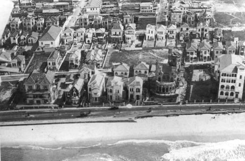 Vista aérea de Copacabana no detalhe a casa da família Smith Vasconcelos